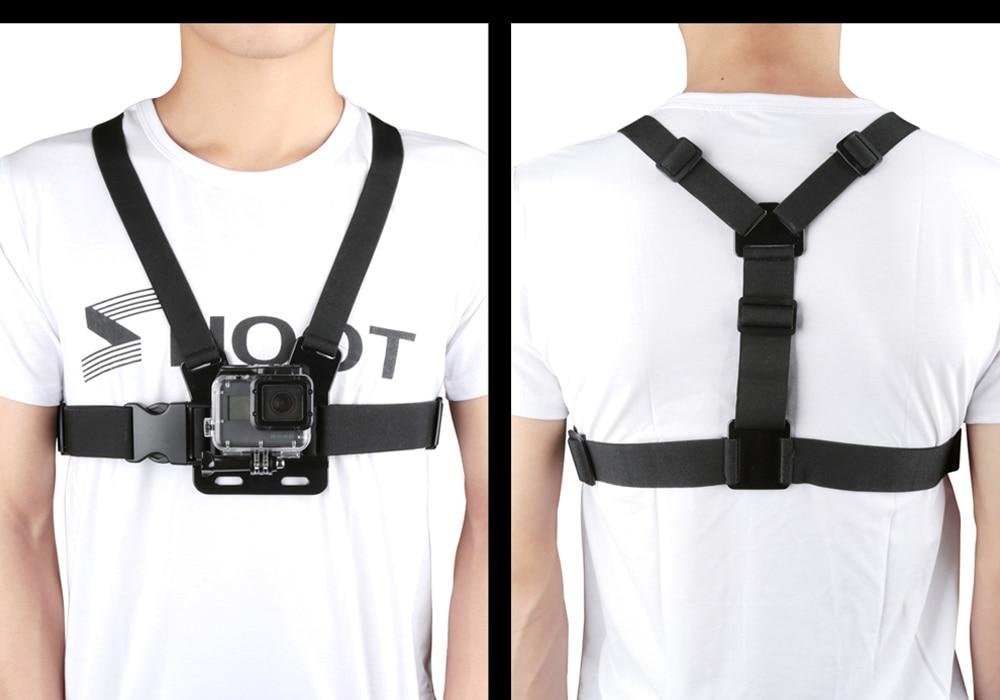 SHOOT Adjustable Harness Chest Strap Mount For Gopro Hero 6 5 4 3 Session SJCAM SJ4000 Xiaomi Yi 4K EKEN h9 Go Pro Accessories
