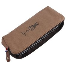 SOSW-Vintage Retro Luxury Make Up Cosmetic Pen Pencil Case Pouch Purse Bag for School