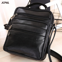 The Rushed Polyester Zipper New 2017 Leather Men's Bags Portable Document One Shoulder Inclined Bag Recreation Sacoche Homme