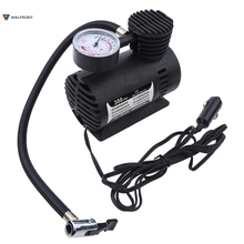 Portable Mini 300 PSI Tire Infaltor Pump 12V Auto Car Electric Air Compressor With 1 Sports needle And 2Nozzle adapter Wholesale