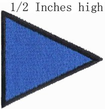 "ICS Pennant Subdivision Flag 0.5"" high shipping / Badgel/ Fine clothes stick/ Navy logo(China)"