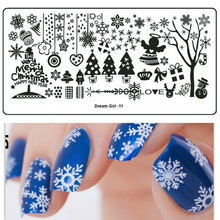 Buy 1xStainless Steel Snow Flower Xmas Style Nail Art Templates Nail Stamping Plate Nail Art Image Polish Stamp Stencil DIY SADG11 for $0.91 in AliExpress store