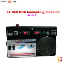 4 in 1 oca vacuum laminating machine LY 860 oca lamination machine with built in pump and bubble remover machine for 12 inch LCD