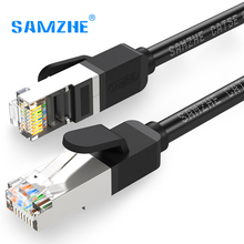 SAMZHE High Speed RJ45 CAT5e Ethernet LAN Cable with Gold-plated PINs Metal Connector for Internet Connection