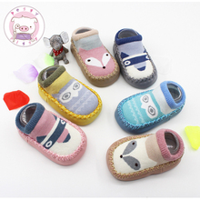 PEGGY PIGGY 2017 New Style Newborn Baby Shoes Infant Shoes Winter Soft Cotton Baby First Walker Baby Shoes Boy Toddler Keep Warm(China)