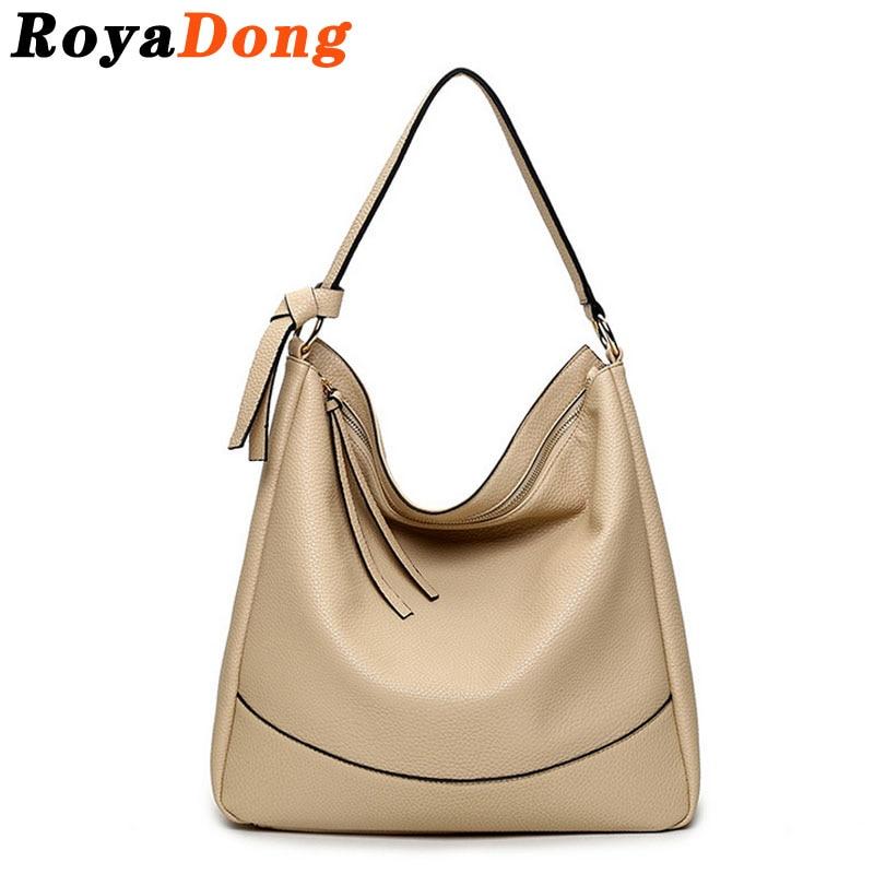 RoyaDong Womens Shoulder Bags Womens Handbags Vintage Pu Leather Hobos Bag Ladies Design  2017 High Quality<br><br>Aliexpress