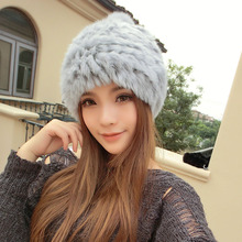 [AngelBola] 2017 Woman Autumn And Winter Women Fur Rabbit Hat Korean Version Lovely Winter Ear Protection Warm Wool Hat C-067