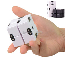 30pcs/lot Infinity Fidget Magic Cube Square Fun Stress Reliever Focus Game Camouflage Novelty Gadget Vinyl Desk ADHD EDC Toys