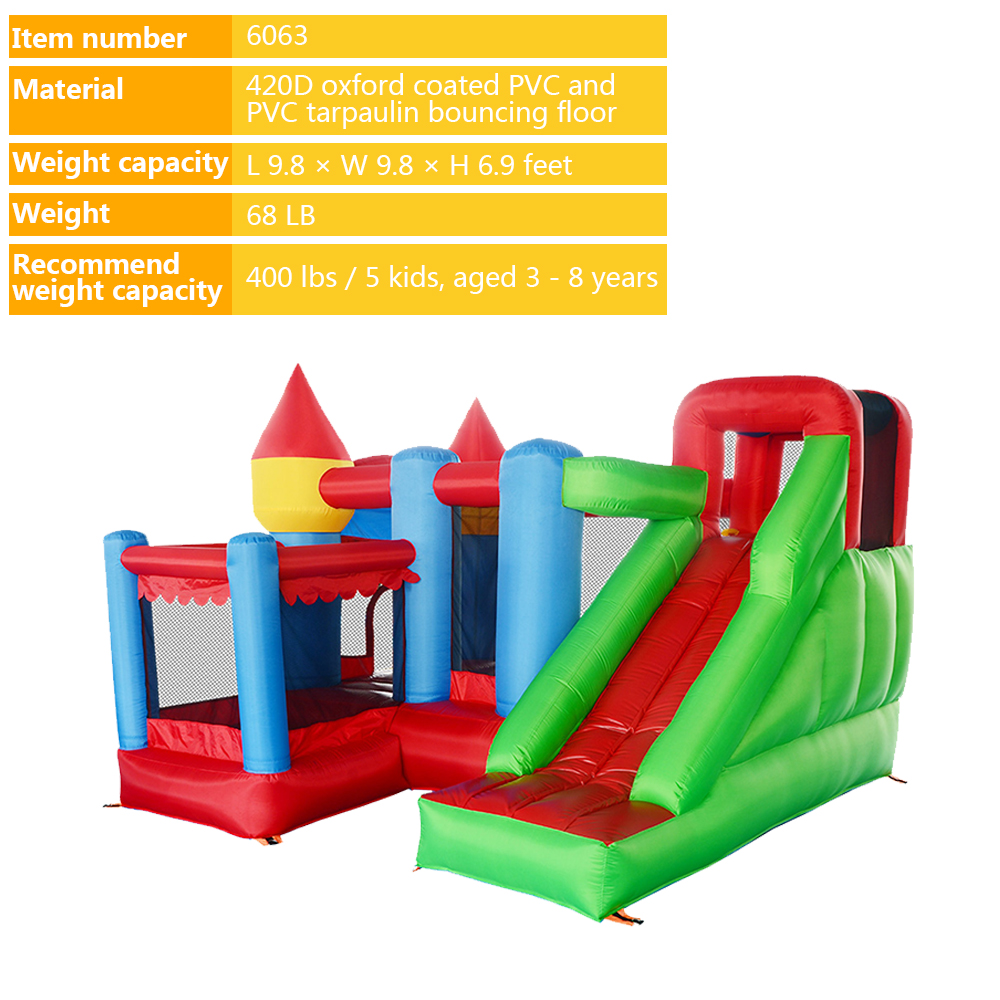 6063 Inflatable bouncy castle bouncer bounce house jumping castle_01