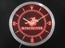 nc0189 Winchester Neon Sign LED Wall Clock(China)