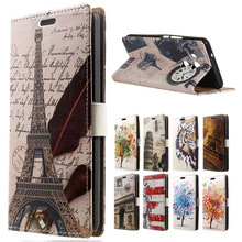 Case For ( HTC U11 Plus ) Feather tower Luxury Leather Wallet Flip Cover For HTC U11 Plus U 11 Plus Mobile Phone Bag Cases(China)