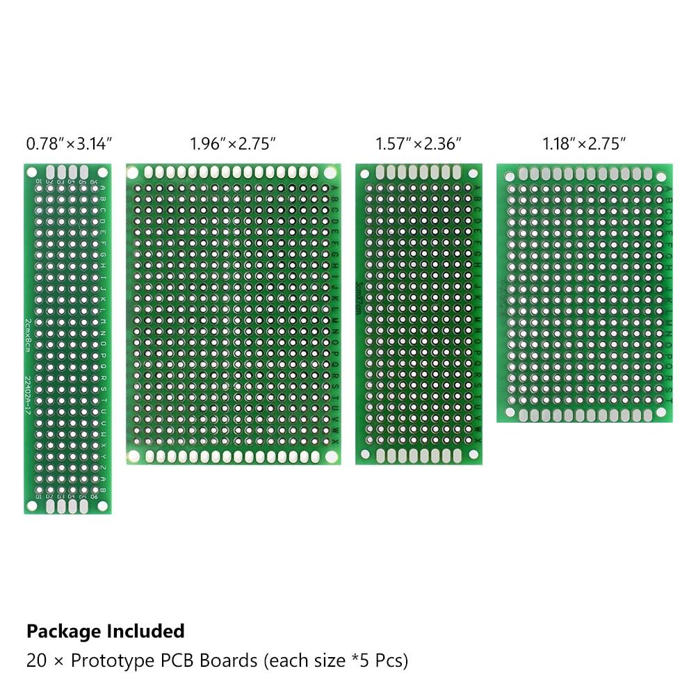 Detail Feedback Questions About 20pcs Tinned Pcb Proto Circuit Board 10pcs Universal Copper Fiberglass Prototype Plate 20 X Boardseach Size5