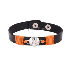 6pcs/lot! Wholesale Jewelry Adjustable Sport Team San Francisco Baseball Bracelet Fahion Custom Wristband Cuff For Women Men