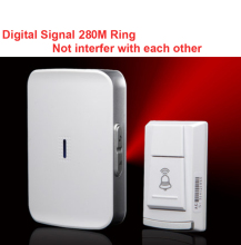 wireless door bell receiver by AA battery doorbell Waterproof 280 Meter door chime door ring digital signal ring