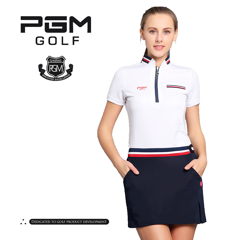 PGM Golf Clothes Female Short Divided Summer Woman Pleated Tennis Mini Skirt Lining (2)
