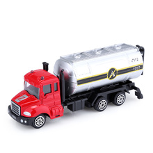 Alloy 1:64 Scale Water Tanker Truck Emulation Model Toy Vehicles Mini Diecast Metal Cars Cognition Tool Kids Birthday Gift(China)