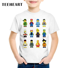 TEEHEART New 2017 Boys/girls's T shirt Popular Hero Short Sleeved T-shirt Printing Children's Cute Cartoon Image Clothing TA637