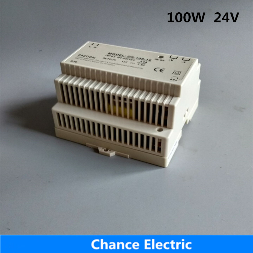 DR-100-24 Din Rail switching Power Supply 100W 24V free shipping<br>