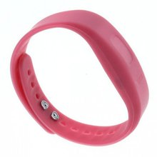 Hot USB Bluetooth Incoming Call Vibrate Alert Alarm Anti-lost Band Bracelet lithium-ion polymer battery with LED indicator  Pink