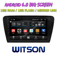 WITSON 10.2 inch BIG SCREEN Android 6.0 CAR GPS for VOLKSWAGEN SKODA OCTAVIA 2014 Quad core 1GB RAM+DVR/WIFI+DSP+OBD+DAB+3G(China)