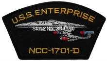 "4"" Star Trek TNG U.S.S.Enterprise NCC-1701-D Ship TV Series Baseball Cap Iron On Sew On Patch Badge costume"