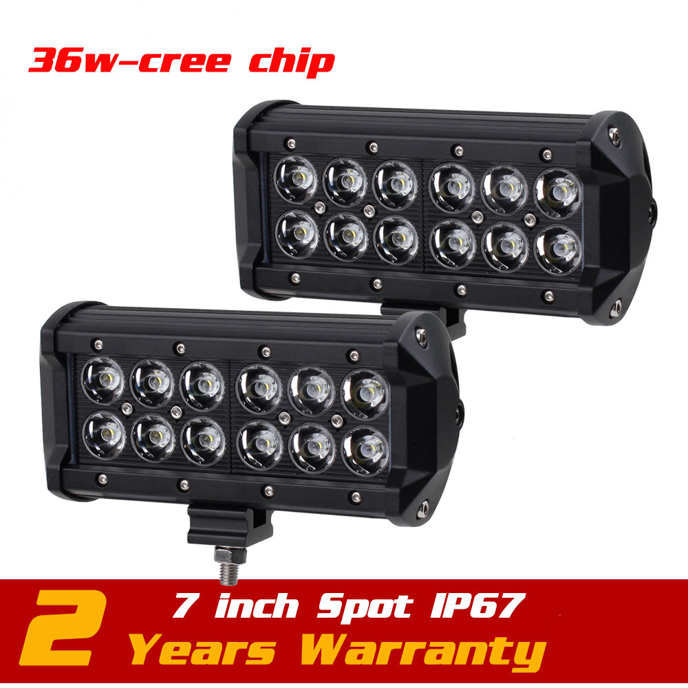 7inch 36w LED Work Light Bar Tractor Motorcycle ATV LED Offroad Light Bar 4X4 LED Bar Offroad Drive Light Seckill 18w 27w<br>