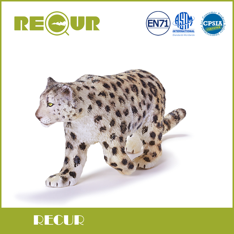 Recur Toys female Snow leopard wild Animal Model PVC Toy Hand Painted Action Figure Soft Toys For Children and collectors<br>