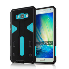 For Samsung Galaxy A7 [Cool Robot] PC + TPU Hybrid Cell Phone Back Case Armor Cover Dust Plug Drop Protection Fashion