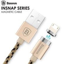 Baseus Magnetic Cable Micro USB Lightning Cable Adapter Data Sync Charge For iPhone 7 5S 6 6S Samsung Magnet Charger Cable