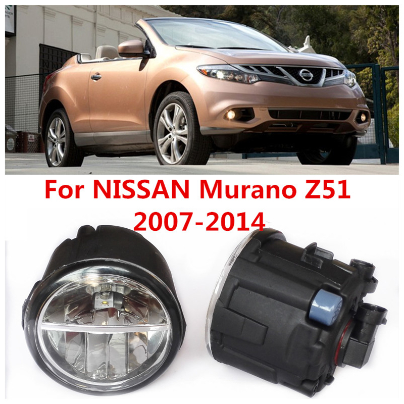 6000K  10W White High Brightness For NISSAN Murano Z51   2007-2014 Car Styling Front Bumper LED Fog Lights Lamps DRL 2 PCS<br><br>Aliexpress