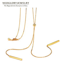 Neoglory Fashion Long Boho Maxi Gold Necklaces Pendants for Women Charm Statement Jewelry Gift Best Girl Friends 2016 New Simp-j