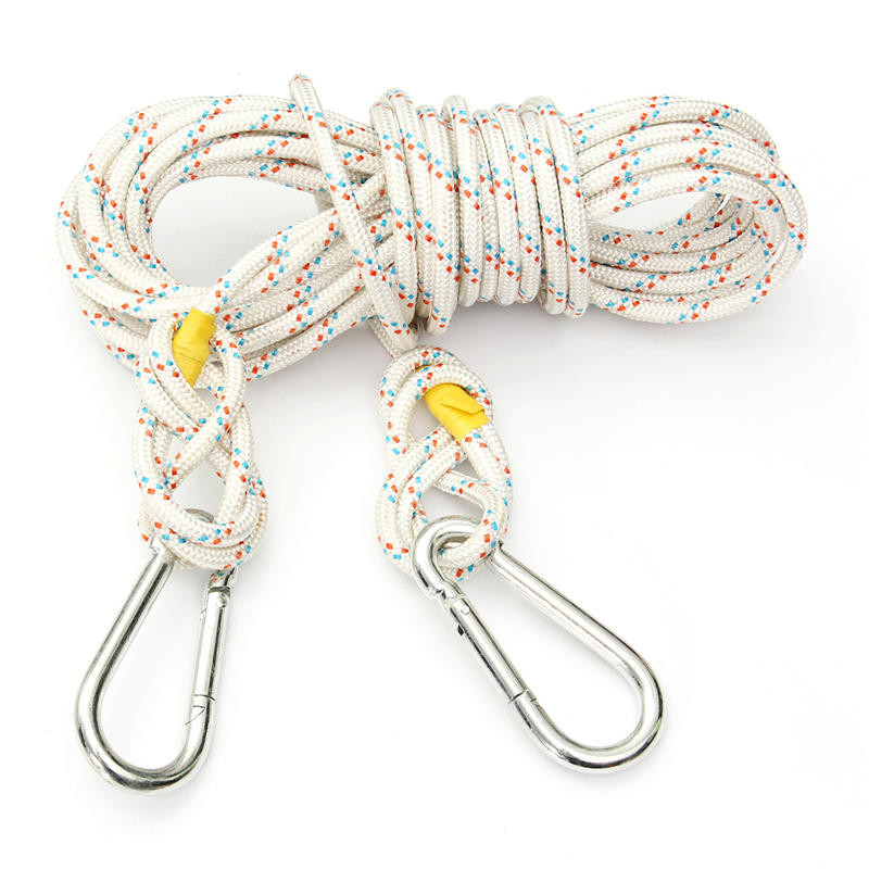 10M High Strength Professional Steel Wire Safety Rope 8mm Diameter Climbing Survival Lifting Sling Safety Harness<br>