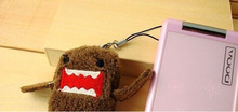 1X Kawaii DOMO Mini 4*3CM Plush Stuffed TOY Phone Charm String Pendant DOLL BAG Key Chain TOY ; Wedding Bouquet TOY Gift DOLL