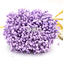 Free shipping New Wholesale 5mm Double Heads Light Purple Pearl Flower Stamen For Cake Decoration DIY(900pcs/lot)(China)