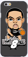5pcs/lot basketball cartoon Deron Williams PC/ TPU case for iphone 6/6S plus SE/5/5s/4s samsung A3/A5/A7/A8/A9/S5/S6/S7/J1/J5/J7