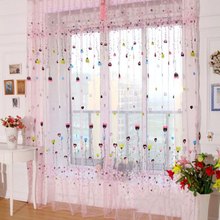 1Pcs Romatic Balloon Tulle Voile Door Window Curtains Drape Panel Sheer Scarfs Valances Window Scarfs For Living Room 2Colors
