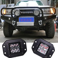 Embedded Led DRL Daylight Aux Spot light fog lamp Rear Reverse Backup tail light For ATV SUV Boat 4X4 Offroad Car Pickup truck