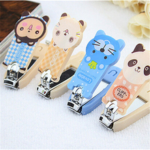 SunnyLake Gifts Kawaii Cartoon Animal finger scissors Nail Clipper Nail Cutter Trimmer Manicure Nail Art Finger Scissors(China)
