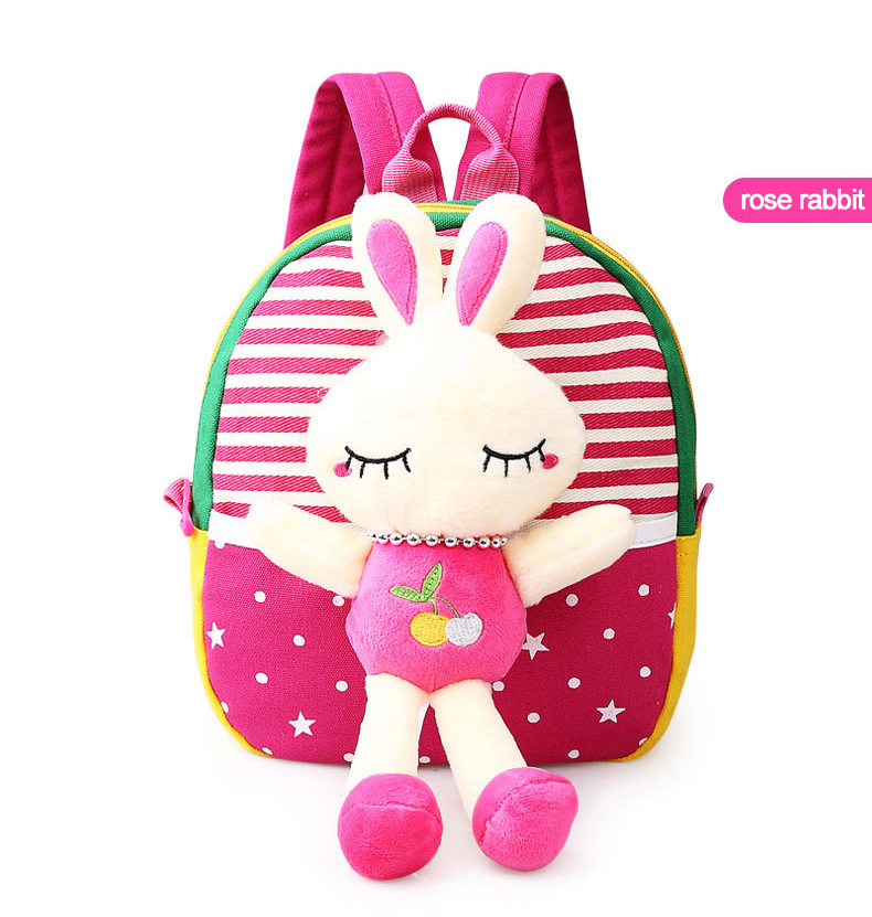 Korean Style Children Toddler Cartoon Stuffed Plush Backpacks baby girls boys cute toys schoolbag backpack (14)