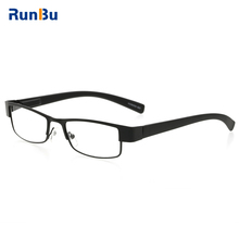 The old Reading Glasses Metal Eyeglasses Black Frame Rectangle Presbyopia 7 different degrees(China)