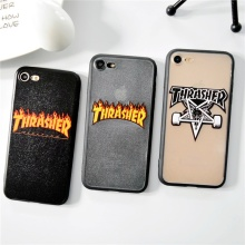 Fashion Fire Words thrasher Hard Cover case For iphone 6 6s Plus 7 7 Plus 5s SE Phone Luxury Letters Hot By All Meams Necessary