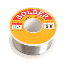 0.6/0.8/1/1.2/1.5/2mm 100g 63/37 FLUX 2.0% 45FT Tin Lead Tin Wire Melt Rosin Core Solder Soldering Wire Roll --M25(China)