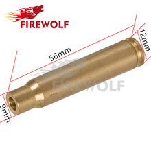 FIRE WOLF 8MM Laser Bore Sighter Red Colimador Cartridge Laser Sight Hunting Sports Optics Copper Lasers Rifle Scope Gun Glock(China)