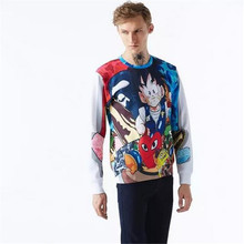 Cartoon cosplay Dragon Ball Kakarot Monkey D. Luffy 3D printing belt pocket sets of sweater(China)