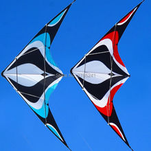 Hot sale 1.8m/70 inch Stunt Kite Dual-Line Control Outdoor Fun Sports Delta toys with flying line(China)