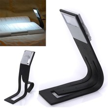 Flexible Mini Folding LED Torch Clip-on Travel Night Light Silicone Body Student Reading Table Desk Book Novelty Lighting Lamp