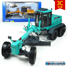KDW brand high quality alloy Engineering Vehicle model Wholesale children toy cars- motor grader 1:55 similar as siku