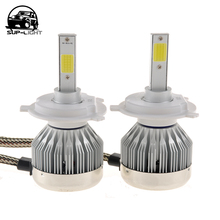 auto led light bulbs 12 volt 60W H1 H3 H7 H8 H9 H10 H11 9005 9006 H4 H13 9004 9007 cob led car front DRL fog lamp 6000K