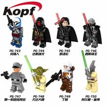 Single sale PG8069 Coleman Star Wars Trebor Jeddi Battle of Geonosis Darth Raven Yoda Building Blocks Bricks Children Gift Toys