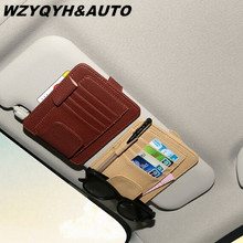 New Auto Car Sun Visor Clip for Sun Glasses Sunglasses Credit Card Pen Holder Clip Multifunctional Storage Bag Fastener Clip Mat(China)